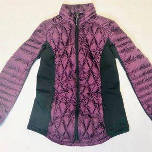 Purple Flattering Puffer Jacket